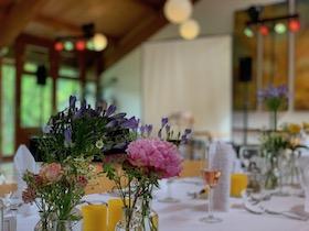 Aufbau bei einer Hochzeit bei Pforzheim