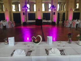 Aufbau bei einer Hochzeit in Bad Liebenzell